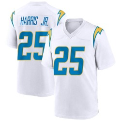 Nike Chris Harris Jr Los Angeles Chargers Youth Game White Jersey