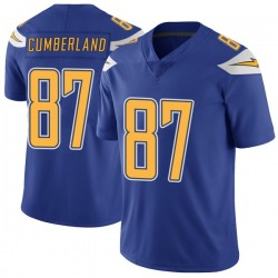 Nike Jeff Cumberland Los Angeles Chargers Men's Limited Royal Color Rush Vapor Untouchable Jersey