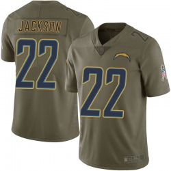 Nike Justin Jackson Los Angeles Chargers Men's Limited Green 2017 Salute to Service Jersey