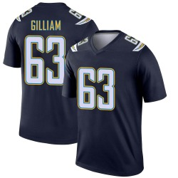 Nike Nathan Gilliam Los Angeles Chargers Men's Legend Navy Jersey