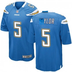 Nike Tyrod Taylor Los Angeles Chargers Youth Game Blue Powder Alternate Jersey