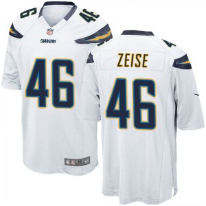 Nike Elijah Zeise Los Angeles Chargers Youth Game White Jersey