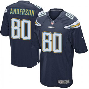 Nike Stephen Anderson Los Angeles Chargers Men's Game Navy Team Color Jersey