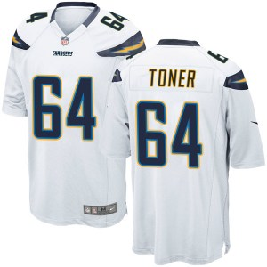 Nike Cole Toner Los Angeles Chargers Men's Game White Jersey