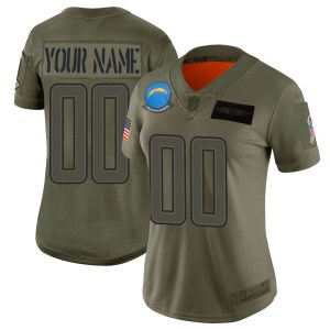 Nike Custom Los Angeles Chargers Women's Limited Camo 2019 Salute to Service Jersey