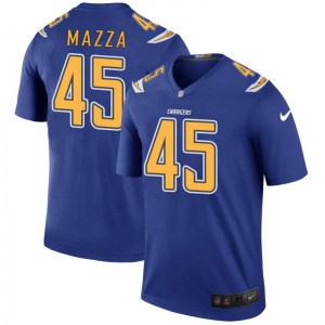 Nike Cole Mazza Los Angeles Chargers Men's Legend Royal Color Rush Jersey