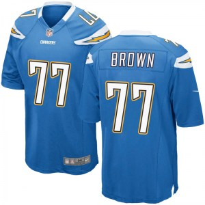 Nike Chris Brown Los Angeles Chargers Youth Game Blue Powder Alternate Jersey